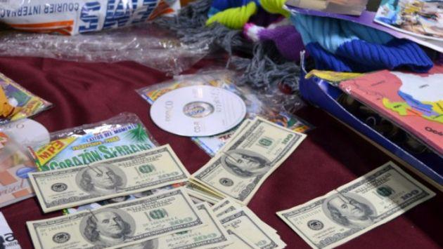 Se encontraron 50 billetes de US$100. (Difusión)