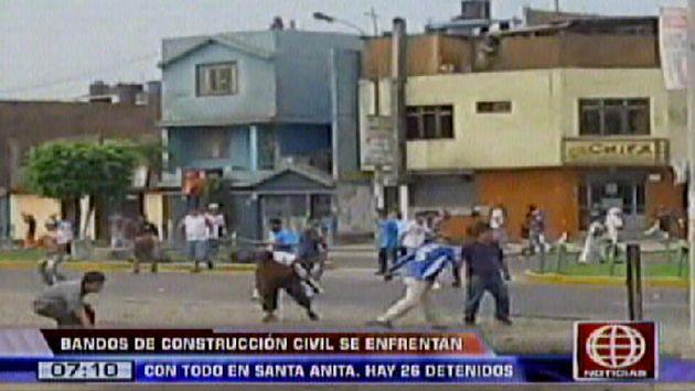 Violento Enfrentamiento Entre Bandos De Construcci 243 N Civil