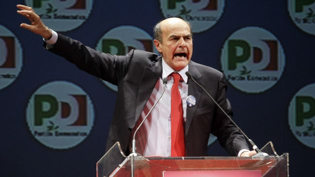 Pier Luigi Bersani encabeza resultados, pero por poca diferencia. (Reuters)