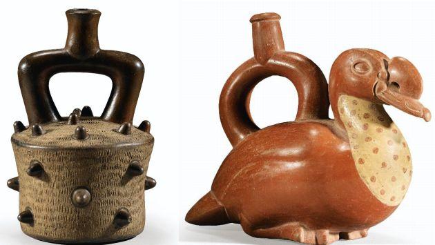 Estas son algunas de las piezas peruanas que serán subastadas. (Sotheby's)