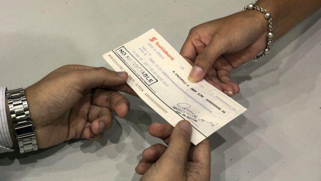El precio promedio por un cheque de gerencia es de S/.15. (USI)