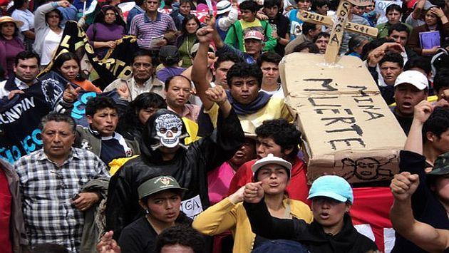 Los antimineros demandan al país por la violencia que ellos mismos provocaron. (USI)