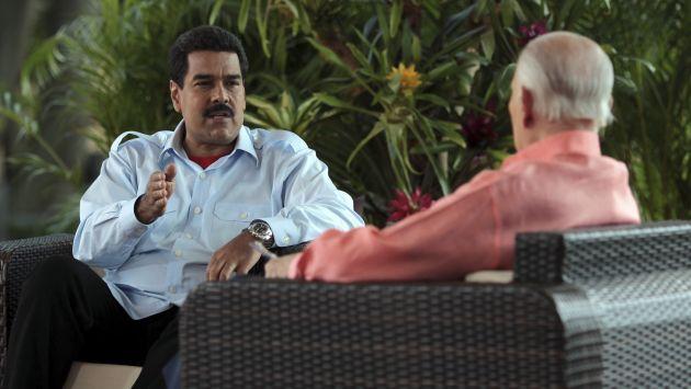 Maduro fue entrevistado por José Vicente Rangel. (Reuters)