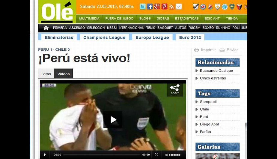 Perú, Chile, Eliminatorias, Selección peruana, Brasil 2014, Selección chilena, Portadas