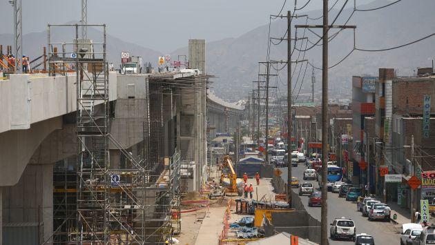 Viaducto del Tren está casi listo en la zona de Bayóvar, en San Juan de Lurigancho. (Rafael Cornejo)