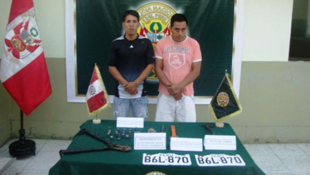 Los delincuentes Diego Álvarez Zapata y Jesús Paredes Trujillo. (Difusión)