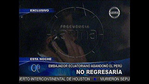 Riofrío no contestó preguntas de la prensa. (Canal 2)