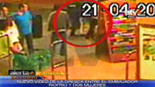 Agresión del diplomático quedó registrada por las cámaras. (ATV+)