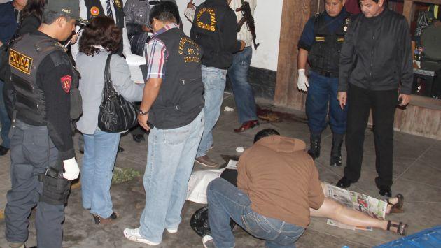 Horror. El sangriento ataque ocurrió en el centro de Trujillo. (Randy Cardozo)