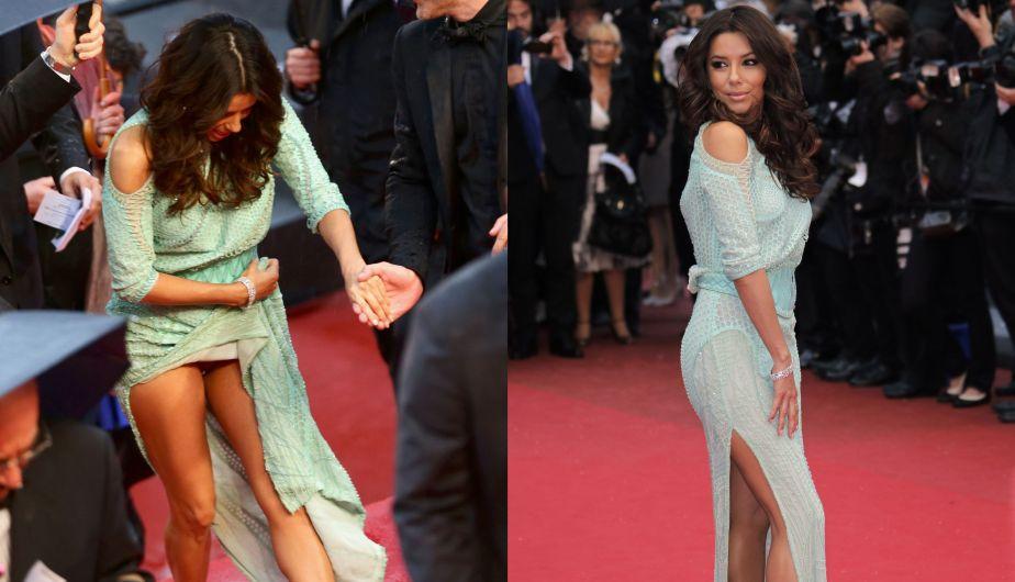 Actriz, Desfile, Fotógrafos, Vestido, Festival de Cannes, Ropa Interior, Eva Longoria, Partes íntimas