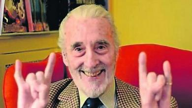 Christopher Lee celebra 91 años con disco de heavy metal