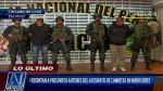 Presentan a 'marcas' que asesinaron a cambista en Miraflores - Noticias de oscar mendoza barreno