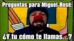 """FOTOS: Los memes de Miguel Bosé y su malestar por las """"preguntas tontas"""" - Noticias de gastronomía"""