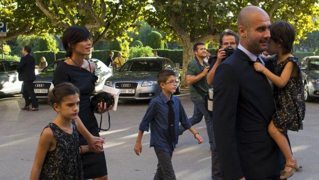 Photo of Josep Guardiola & his  Son   Marius Guardiola