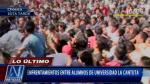 Enfrentamientos entre estudiantes de La Cantuta por toma de universidad - Noticias de antonio diaz saucedo