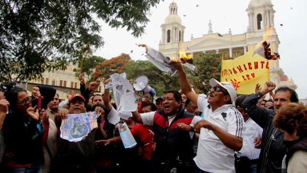 Protestas en Chiclayo. (Fabiola Valle)