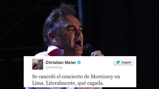 Morrissey tenía programado representarse el 9 y 10 de julio. (Foto: flickr.com/brocco_lee)