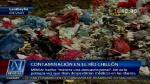 Grave contaminación en el río Chillón - Noticias de carmen sara