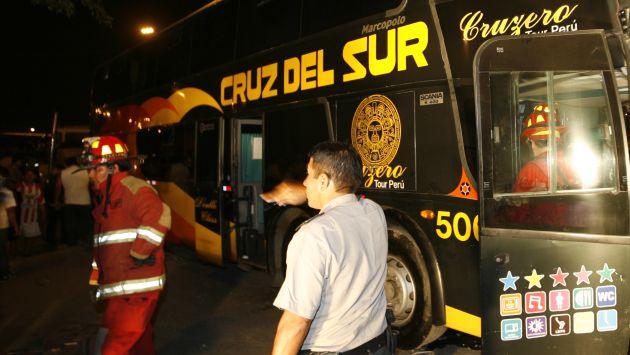 La única víctima fue el chofer del bus. (USI/Referencial)