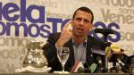 Henrique Capriles alaba el modelo de desarrollo de Perú - Noticias de patricio aylwin