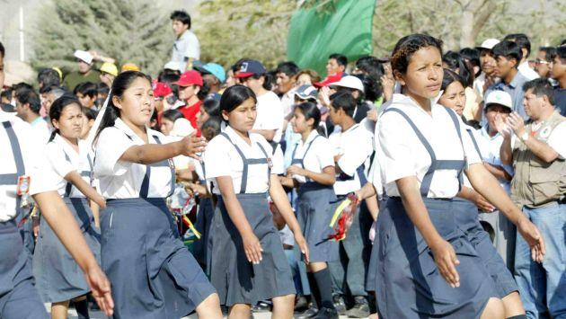 Escolares irán al colegio cuando la influenza ya no sea un peligro. (Andina)