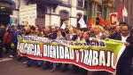 FOTOS: Así se desarrolló la marcha de la CGTP y #Tomalacalle - Noticias de #27j