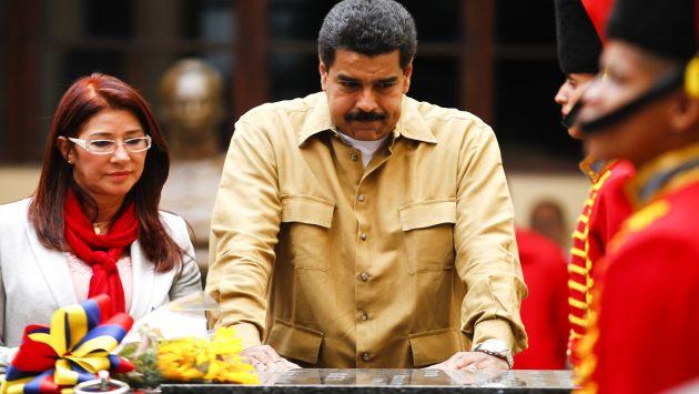 Nicolás Maduro en el Cuartel de la Montaña, donde reposan los restos de Hugo Chávez. (Reuters)