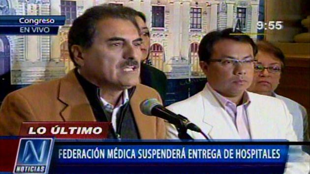 Gagó y Palomino dieron una conferencia en el Congreso. (Canal N)