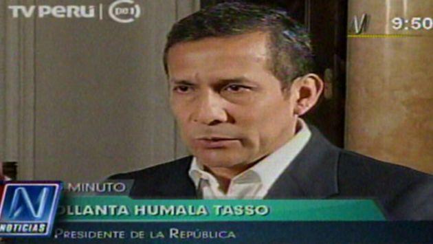El jefe de Estado declaró en Palacio de Gobierno. (TV Perú)
