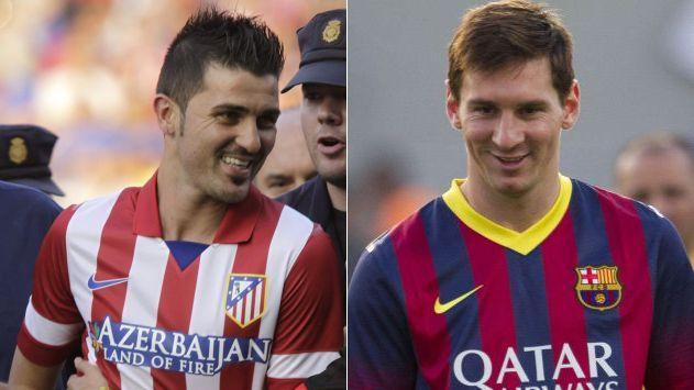 David Villa enfrentará a Lionel Messi y al resto de sus excompañeros en la ida por al Supercopa española. (EFE/AP)