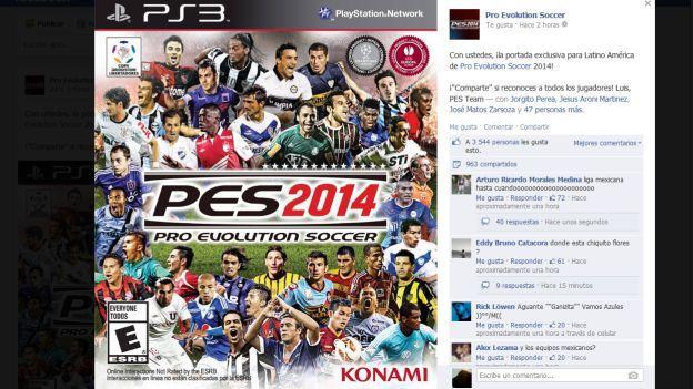 Esta es la esperada portada del videojuego. (Facebook PES)