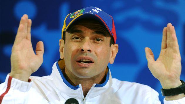 Henrique Capriles en su programa vía internet Venezuela somos todos. (AFP)