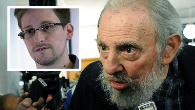 Fidel Castro considera valiente a Edward Snowden por sus revelaciones. (Agencias)