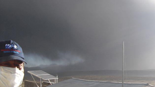 Afectados. Pobladores están expuestos a cenizas del volcán. (Difusión)