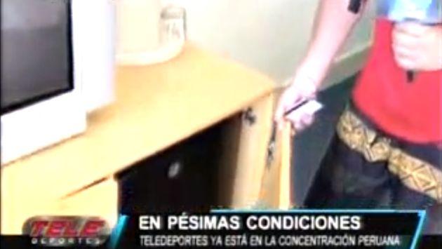 Puertas de los cuartos que no abren y algunos mobiliarios están rotos, (Captura de TV)