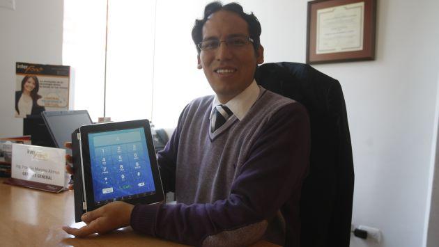 Franklin Marcelo es dueño de Interfono. (Mario Zapata)