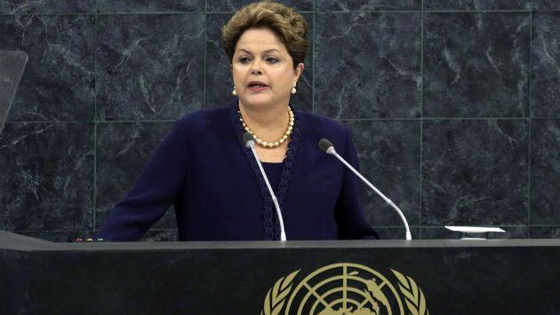 Dilma Rousseff estuvo hoy en la sede de la ONU. (AP)