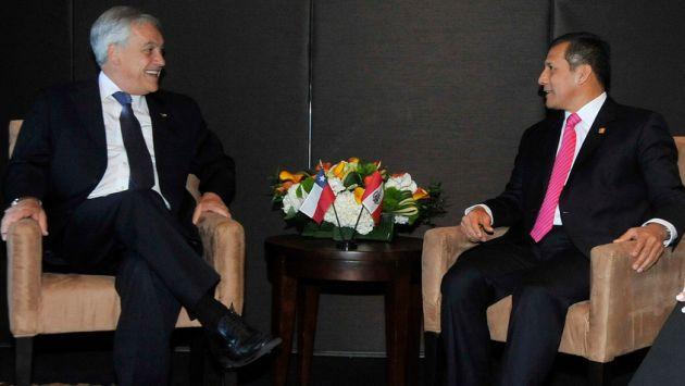 Piñera y Humala durante cita en hotel Mandarín. (Flickr)