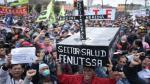 Paro de la CGTP generó caos vehicular en el centro de Lima - Noticias de mario huaman