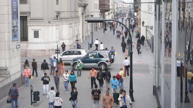 Peatonalización en el Centro de Lima. (USI/Referencial)