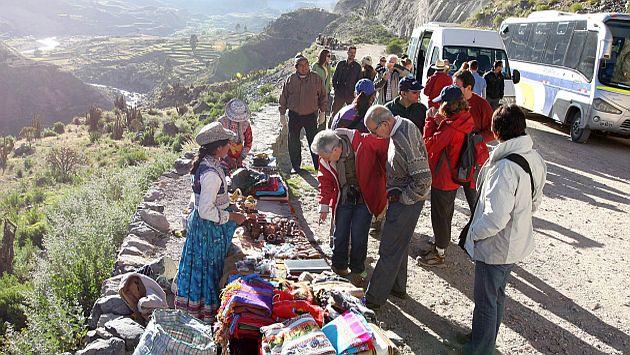 Turistas en el Valle del Colca, en Arequipa. (USI)