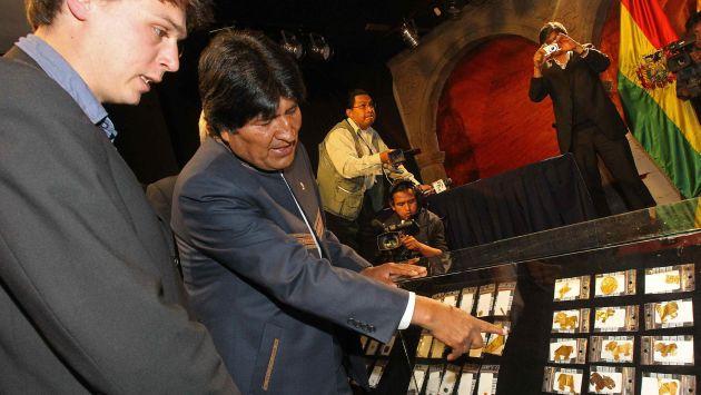 Presidente Evo Morales estuvo en presentación de piezas. (EFE)