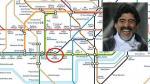 Diego Maradona tiene su propia estación en el Metro de Londres - Noticias de osvaldo ardiles