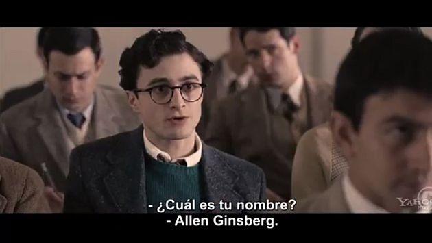 Daniel Radcliffe en Kill your darlings. (Youtube)