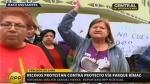 Bloquean puente Santa María en protesta contra Vía Parque Rímac - Noticias de lamsac
