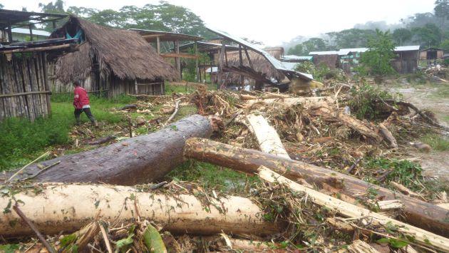 Puentes y casas resultaron afectados. (USI/Referencial)