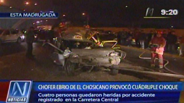 Cúster chocó con fila de vehículos. (Canal N)