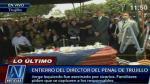 Sepultan restos del director del penal El Milagro - Noticias de jorge izquierdo
