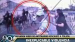 Identifican a sujeto que acuchilló a policía durante protesta antitaurina - Noticias de marlon carrasco quispe