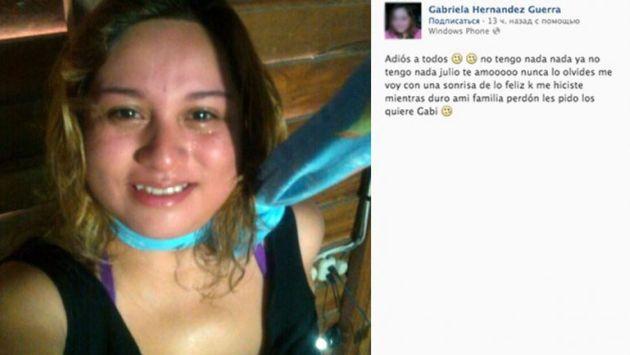 Joven se suicidó tras publicar un último mensaje en la red social. (Facebook)